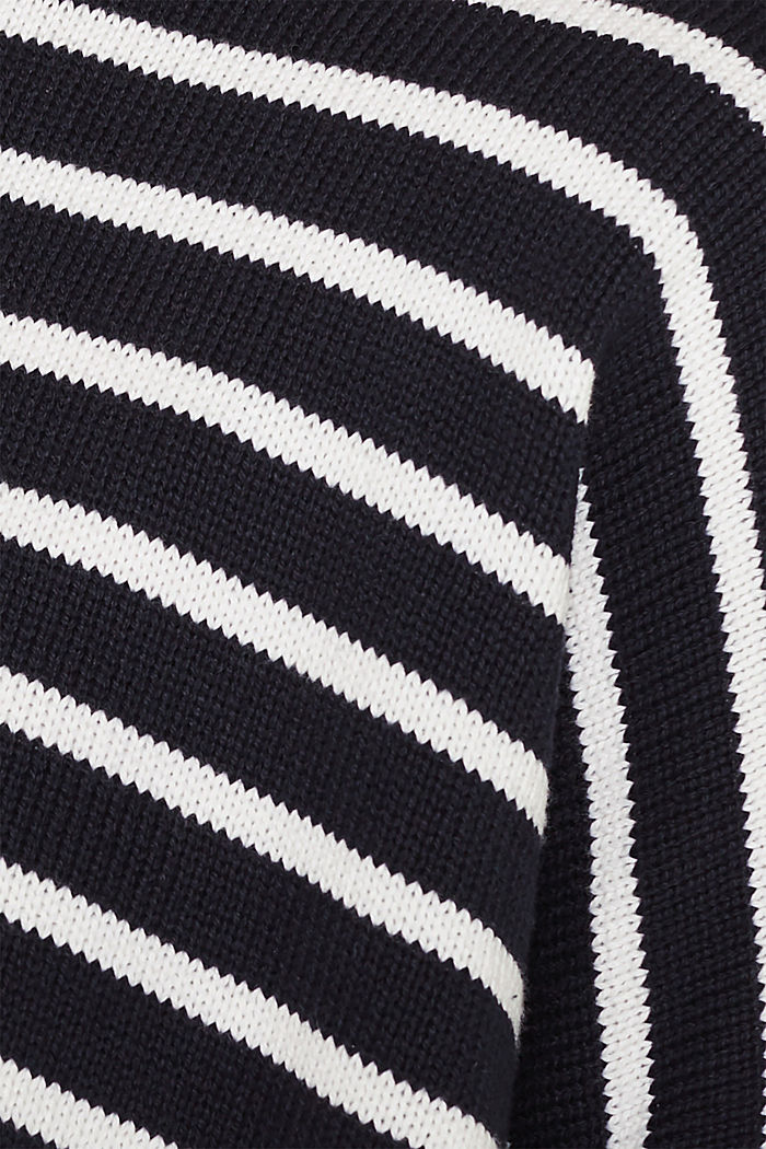 Oversized jumper with stripes, 100% cotton, NAVY 2, detail image number 4