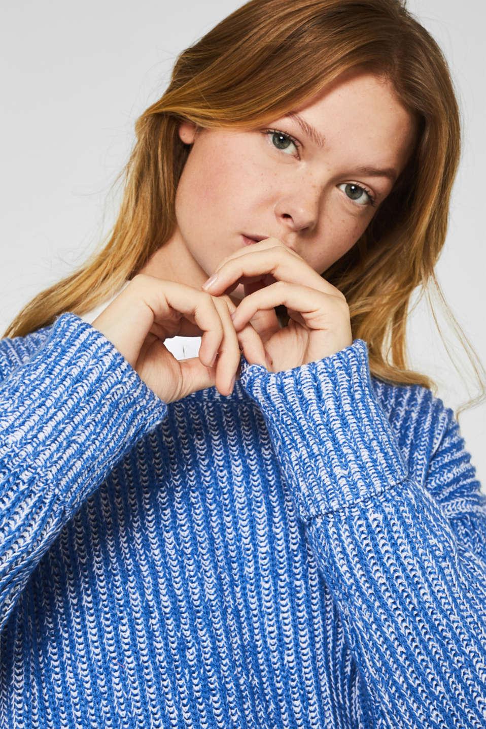 Melange chunky knit jumper, BRIGHT BLUE 2, detail image number 3