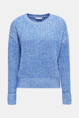 Melange chunky knit jumper, BRIGHT BLUE 2, detail