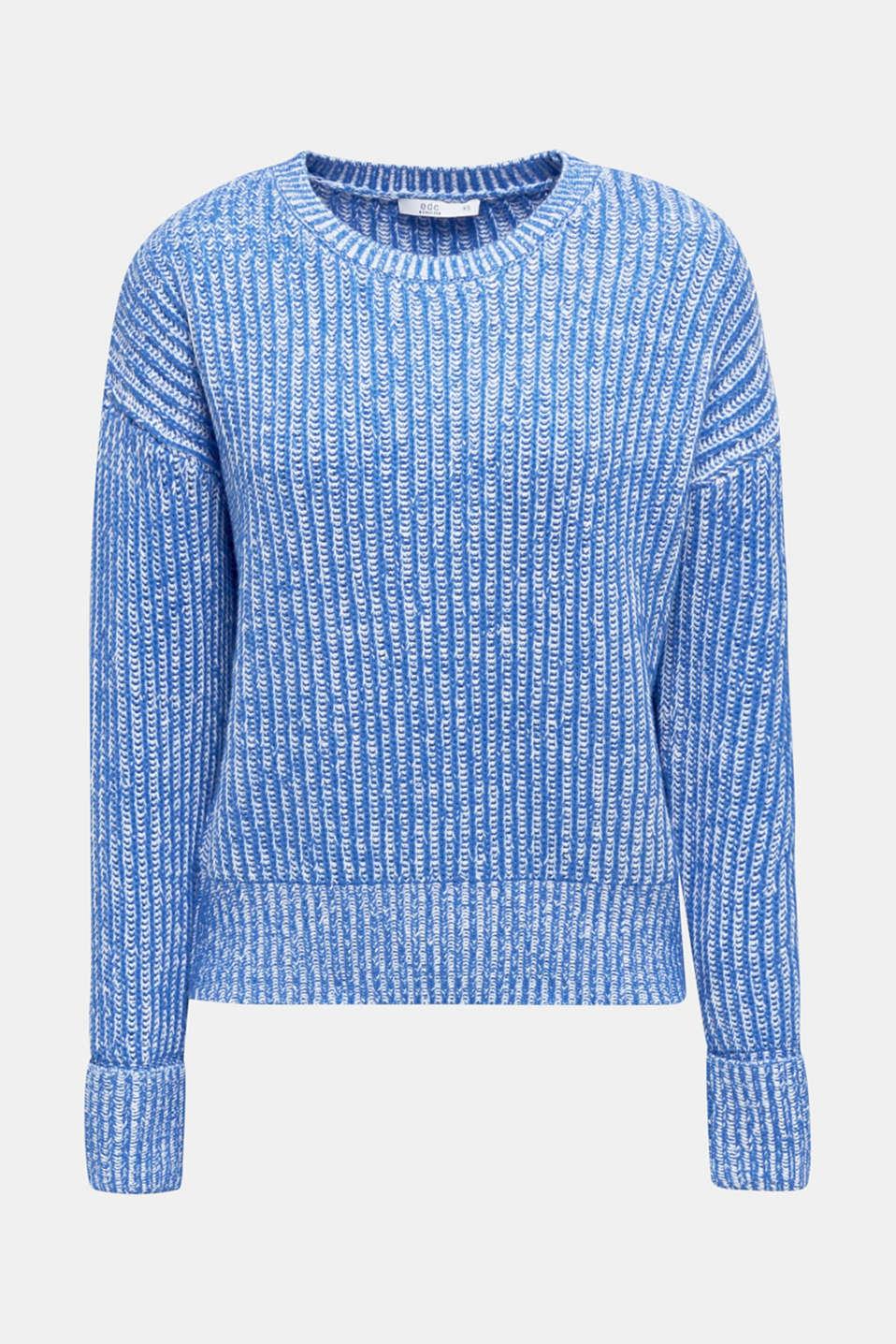 Melange chunky knit jumper, BRIGHT BLUE 2, detail image number 4