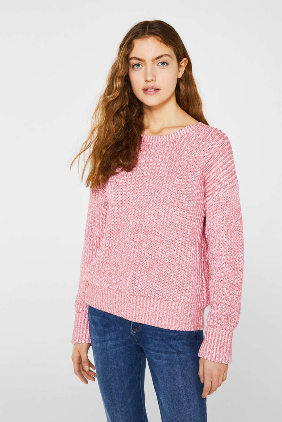 Melange chunky knit jumper, BLUSH 3, detail image number 0