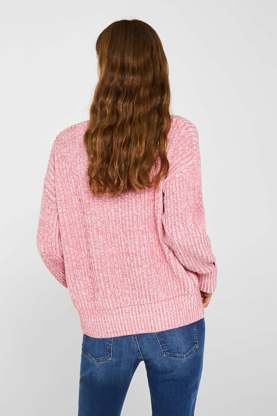 Melange chunky knit jumper, BLUSH 3, detail image number 3