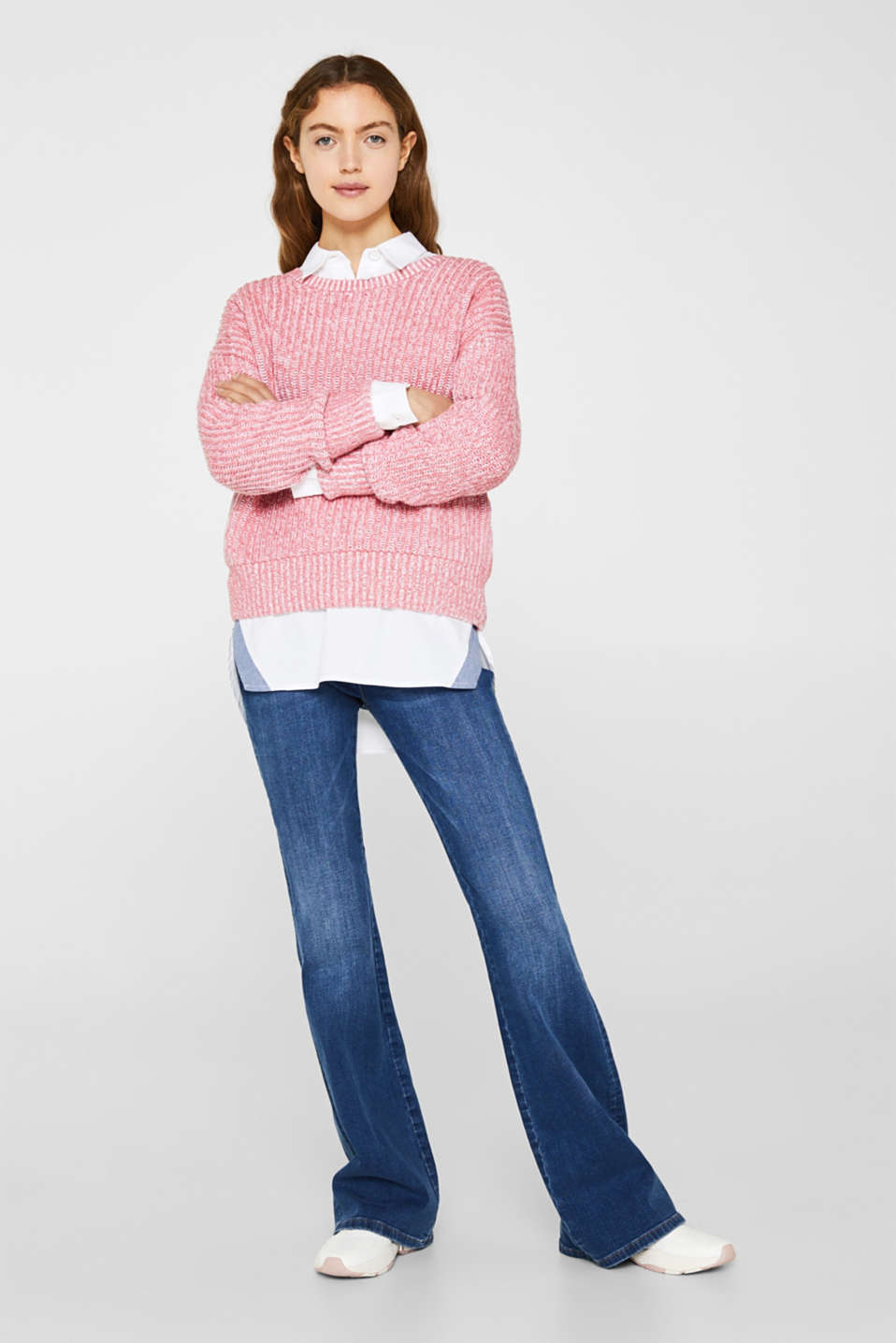 Melange chunky knit jumper, BLUSH 3, detail image number 1