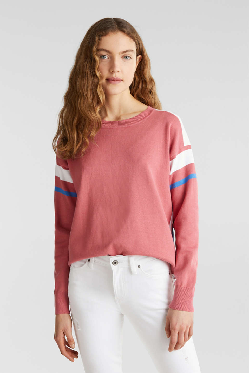 edc - Jumper with sporty stripes