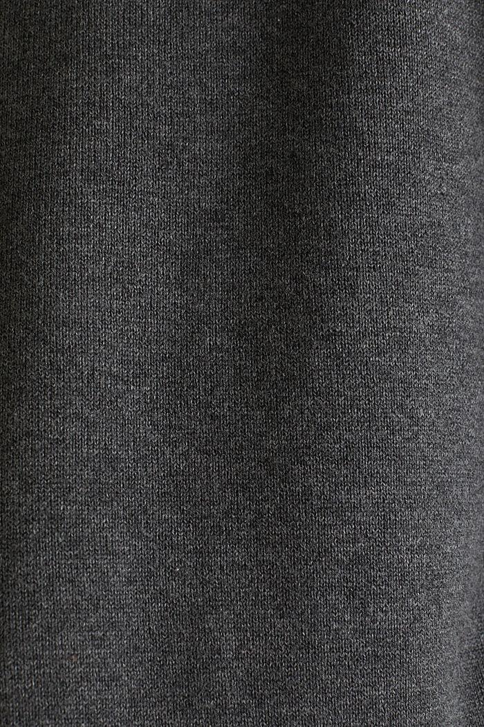 Gebreide, boxy hoodie met colour block, LIGHT GREY, detail image number 4