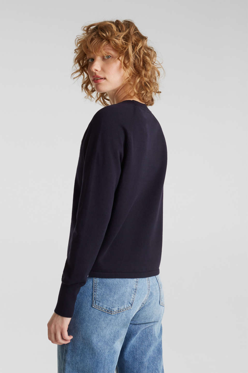 Jumper with racing stripes, NAVY 2, detail image number 1
