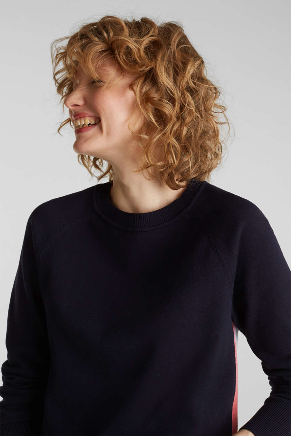 Jumper with racing stripes, NAVY 2, detail image number 3