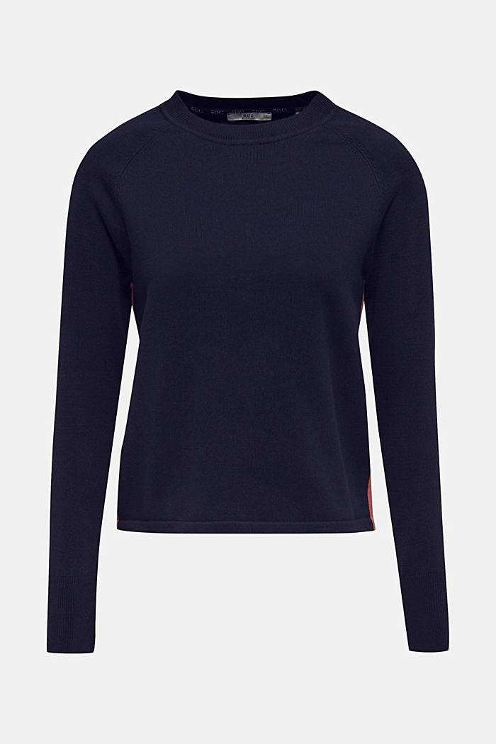 Jumper with racing stripes, NAVY 2, detail image number 4