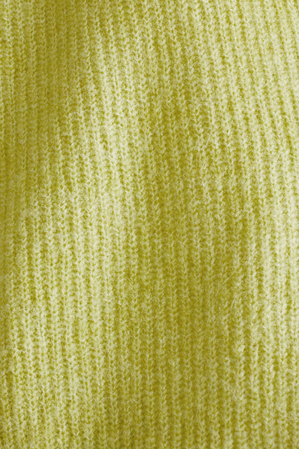 NEON short, boxy stretch cardigan, LIME YELLOW, detail image number 4