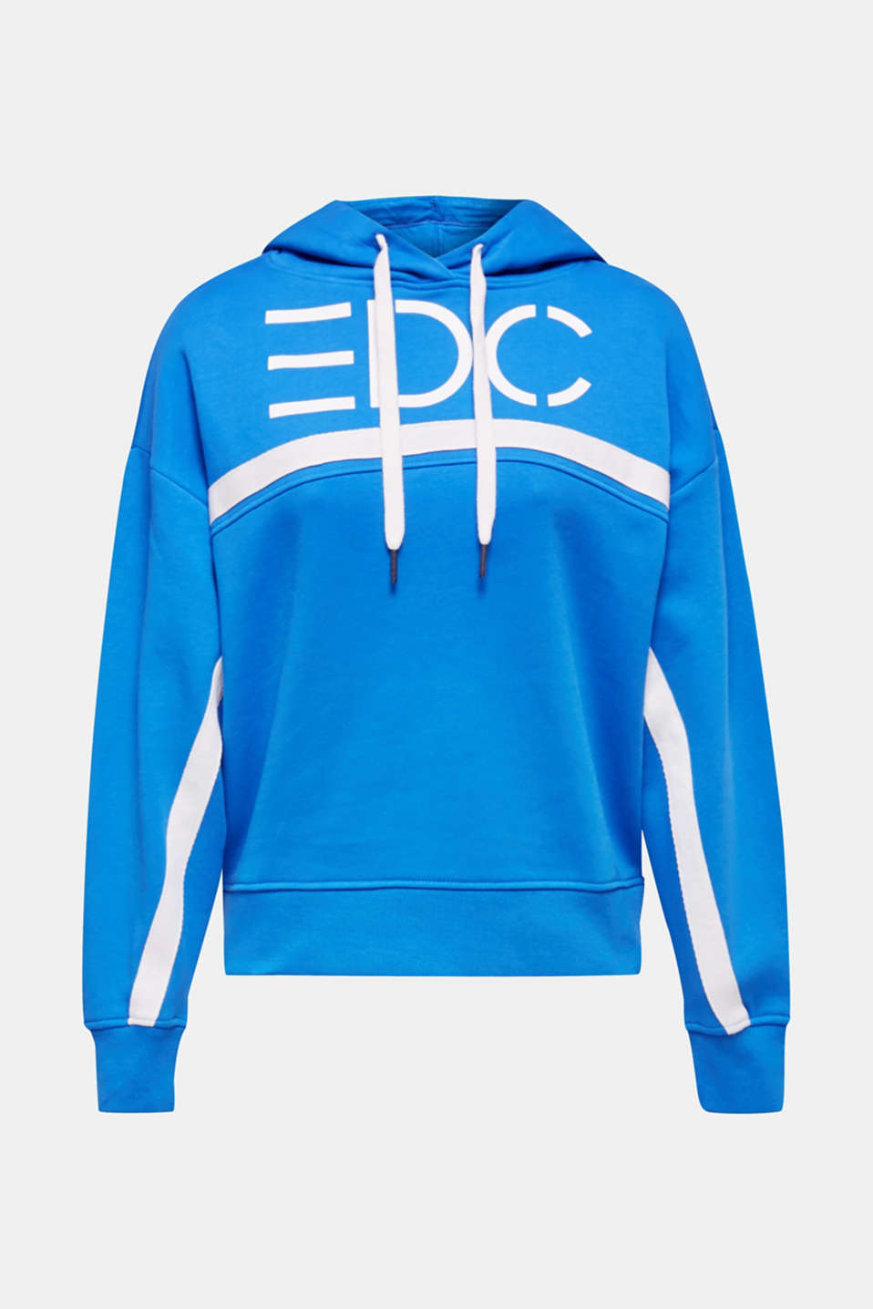 Logo hoodie with woven tape, 100% cotton, BRIGHT BLUE, detail image number 6