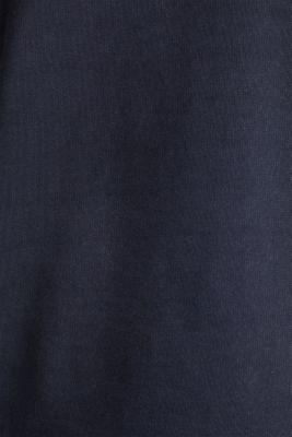 Garment-washed hoodie, 100% cotton, NAVY, detail