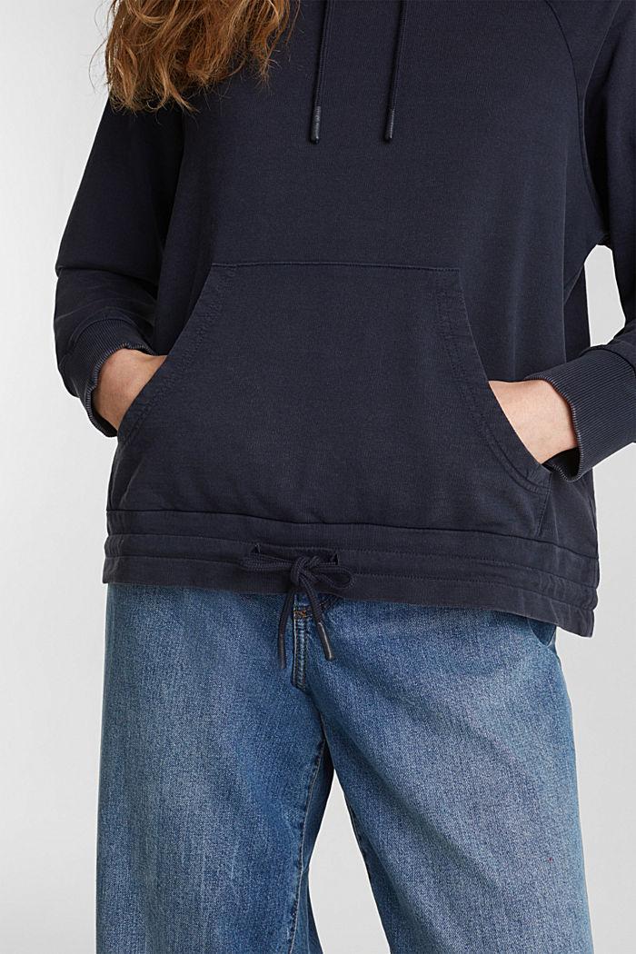 Hoodie im Washed-Look, 100% Baumwolle, NAVY, detail image number 5
