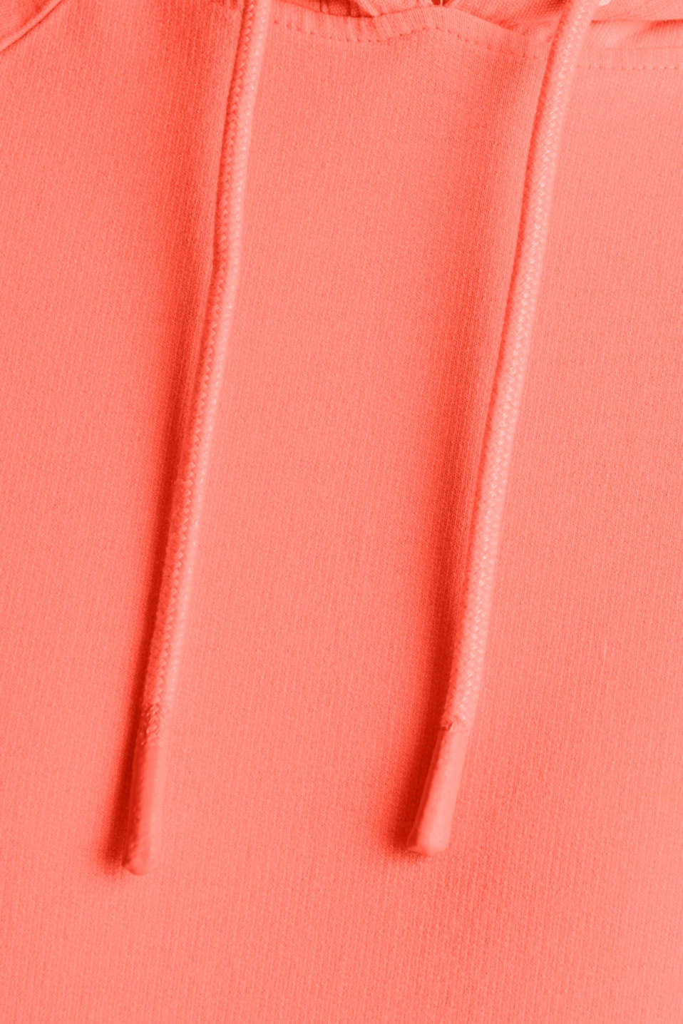 Garment-washed hoodie, 100% cotton, CORAL, detail image number 4