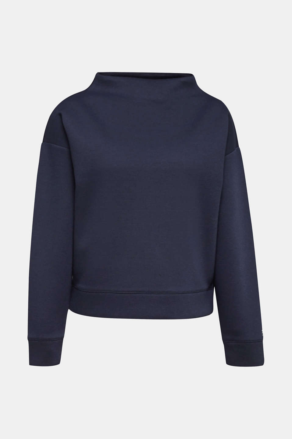 Compact sweatshirt with a stand-up collar, NAVY, detail image number 6