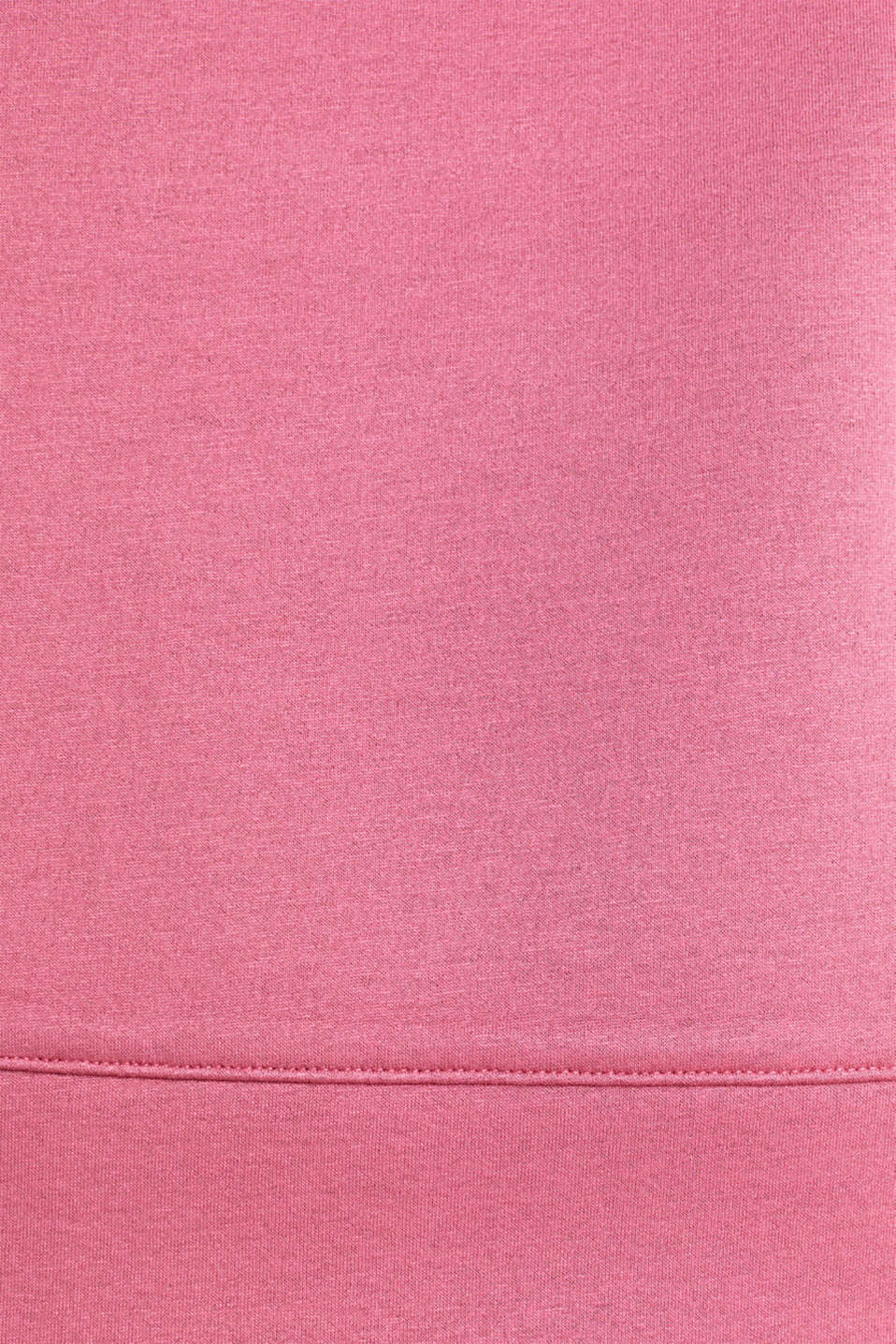Compact sweatshirt with a stand-up collar, BLUSH, detail image number 3