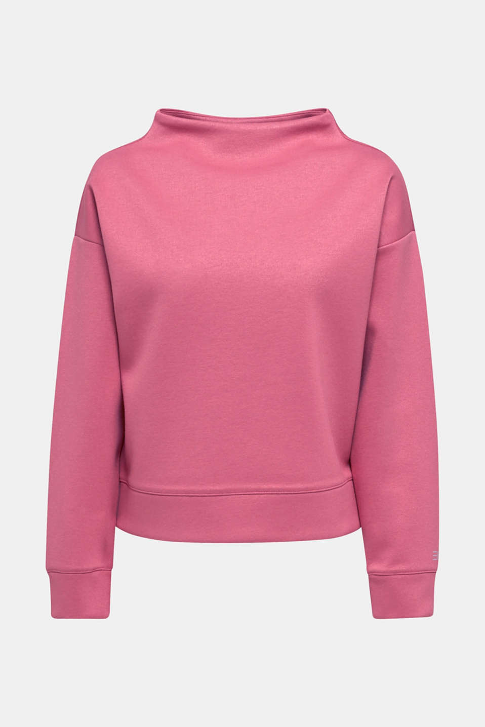 Compact sweatshirt with a stand-up collar, BLUSH, detail image number 7