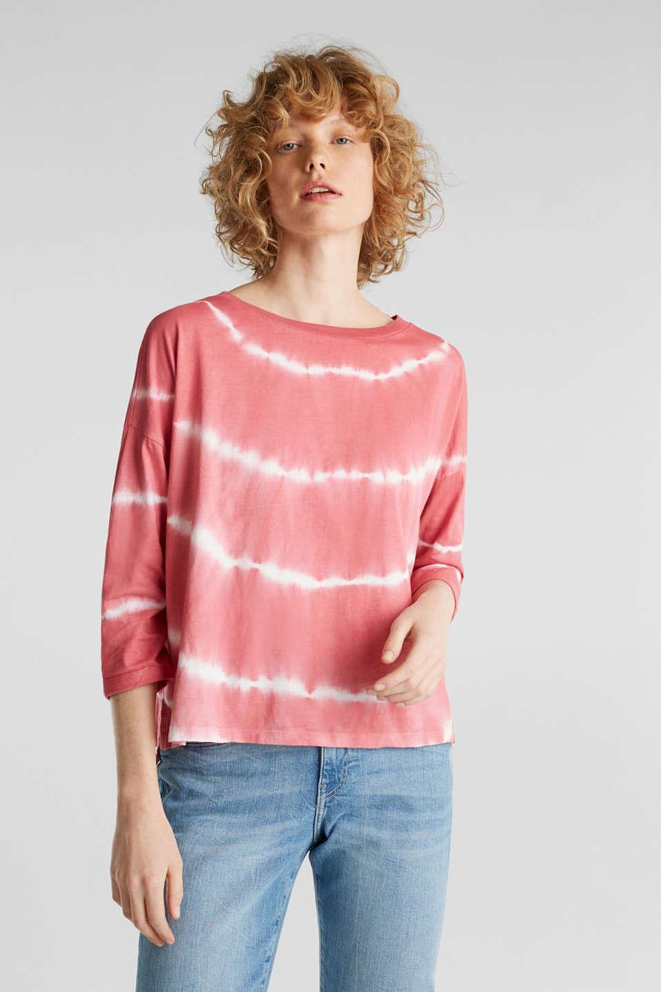 Oversized top in a batik look, 100% cotton