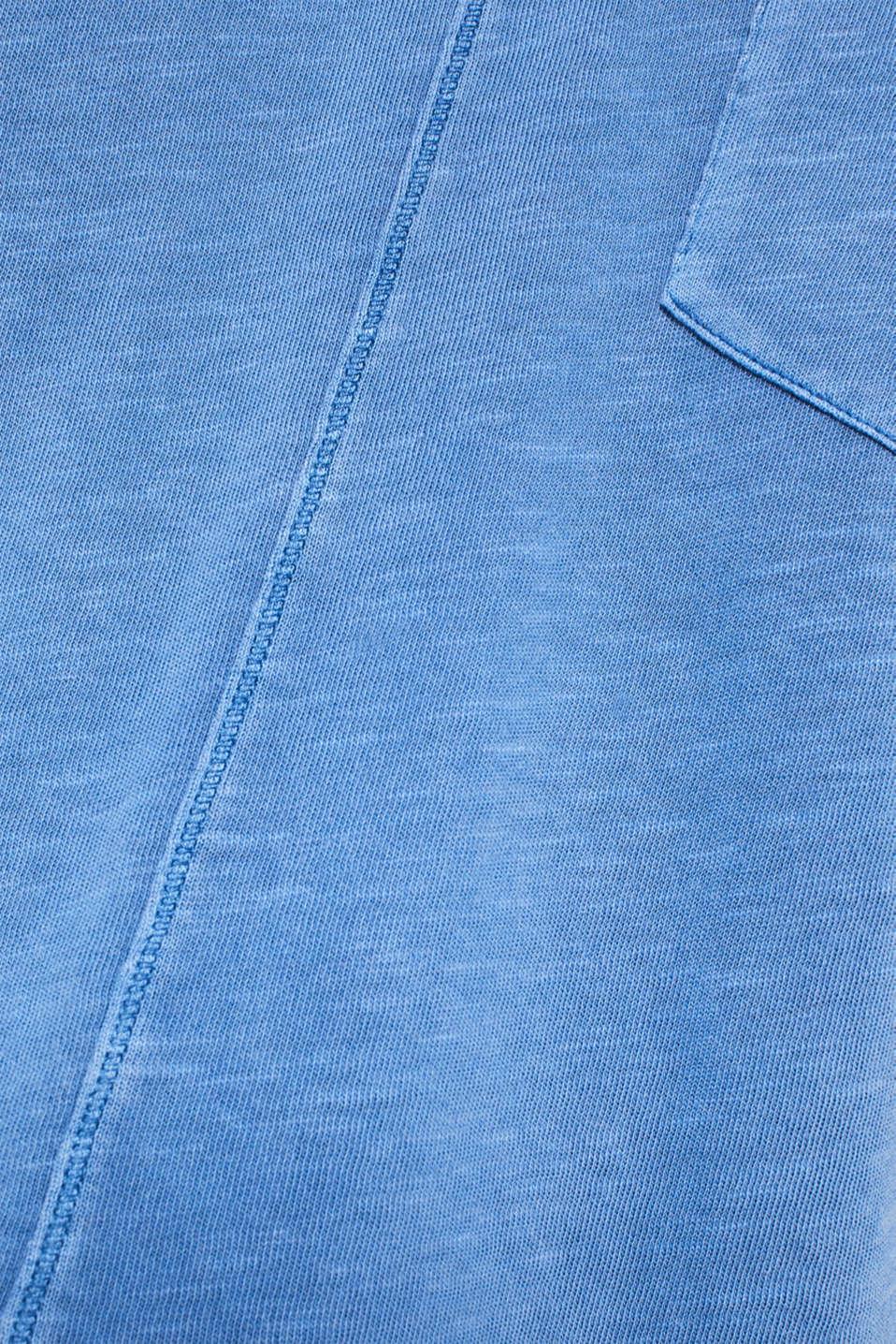 NEON slub T-shirt with a pocket, 100% cotton, BRIGHT BLUE, detail image number 4