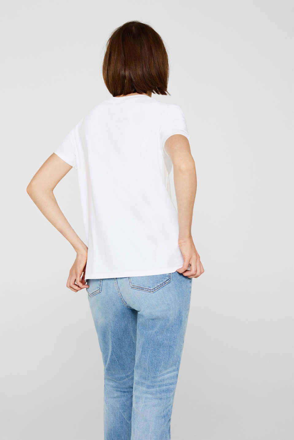 T-shirt with a print, 100% cotton, WHITE, detail image number 3