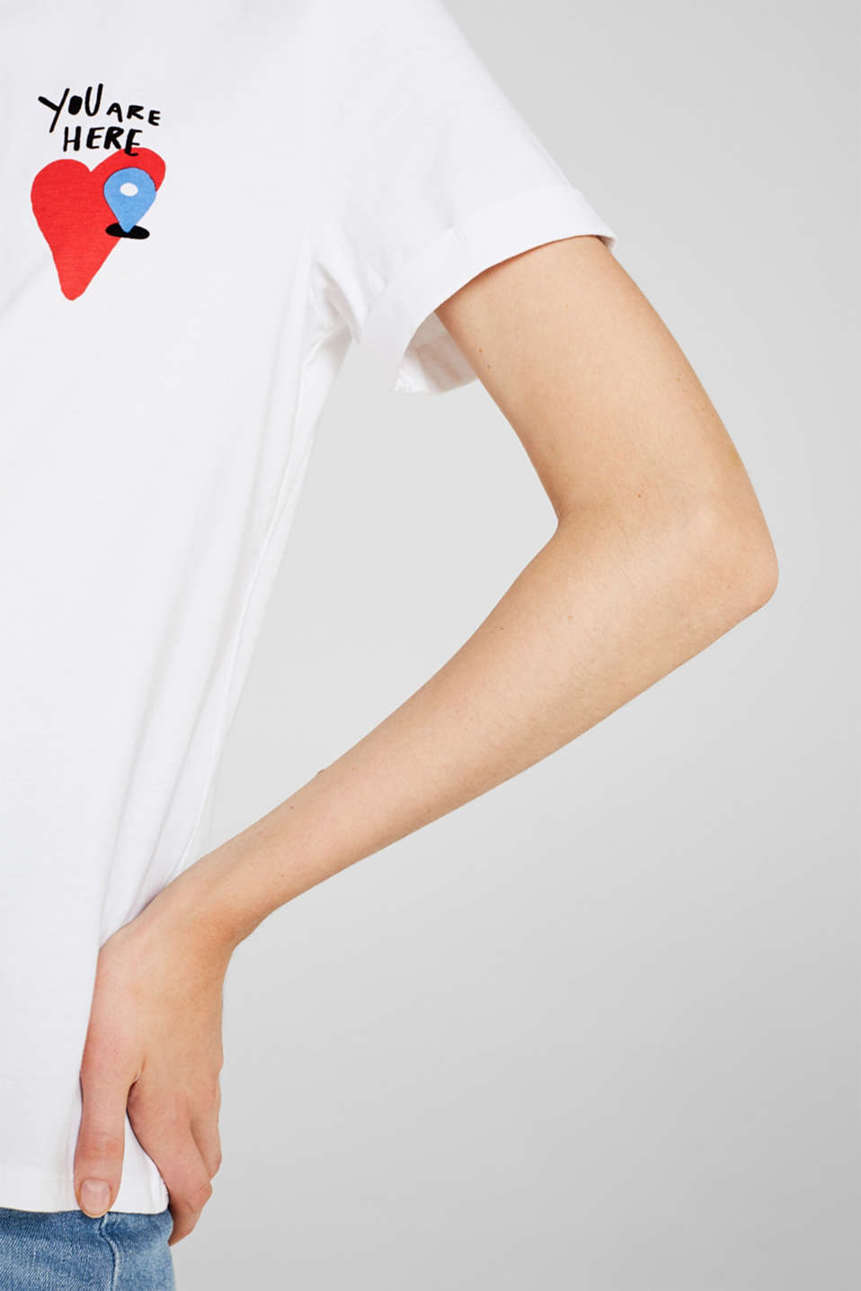 T-shirt with a print, 100% cotton, WHITE, detail image number 2