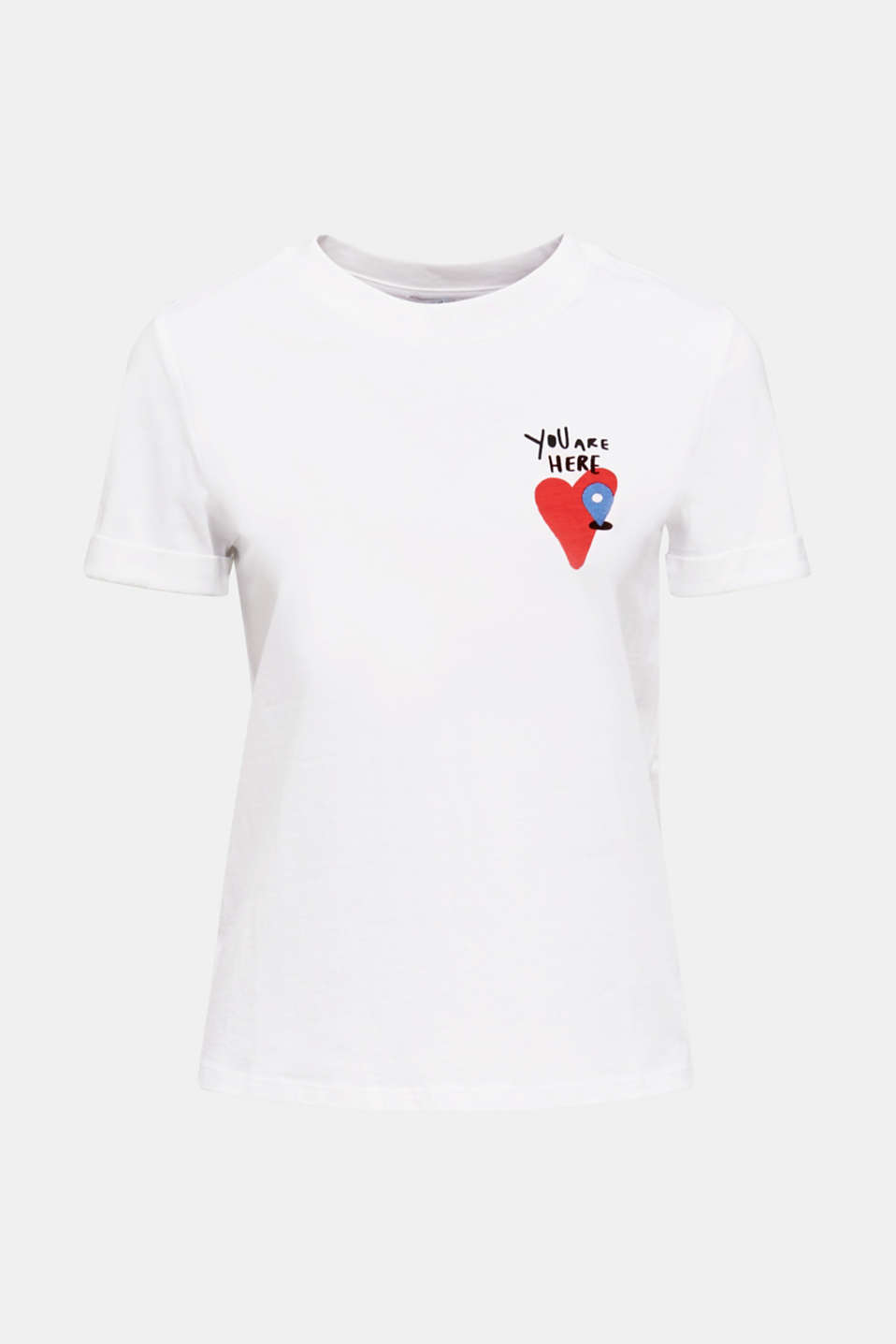 T-shirt with a print, 100% cotton, WHITE, detail image number 6