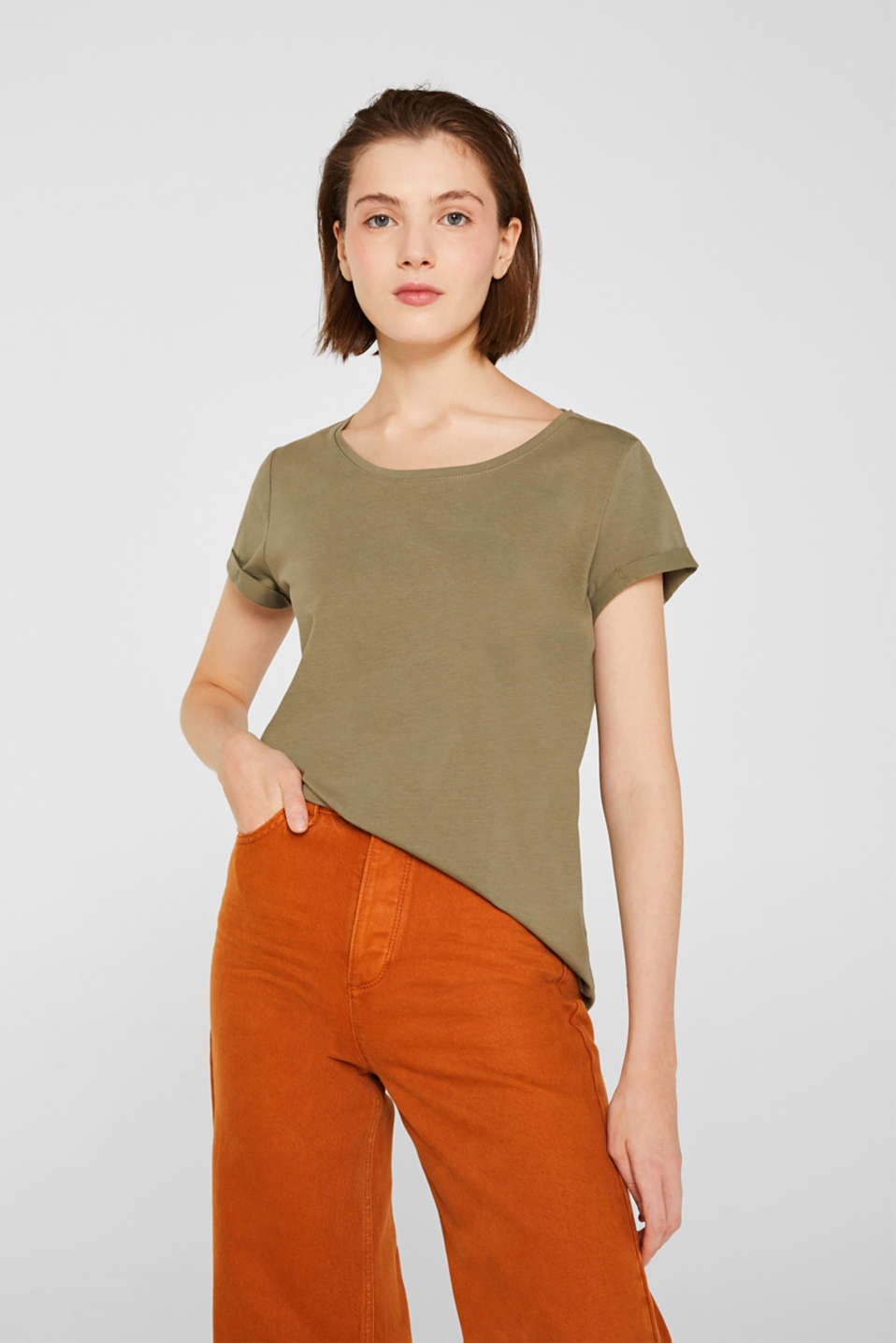 edc - Stretch top with feminine details