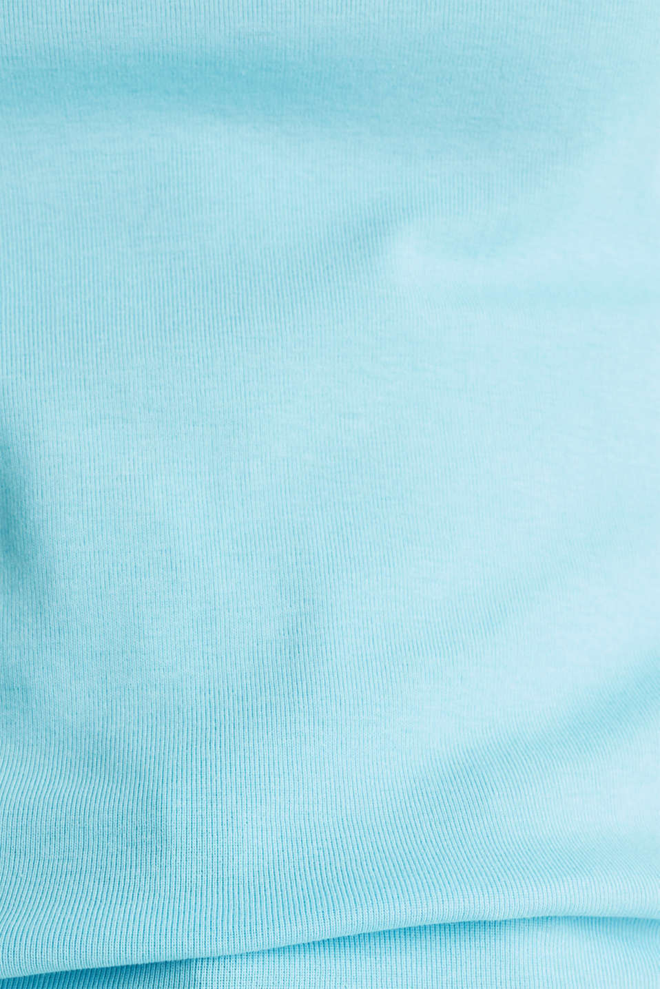 NEON top with a band collar, 100% cotton, TURQUOISE 4, detail image number 4