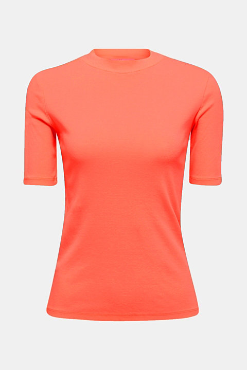 NEON top with a band collar, 100% cotton