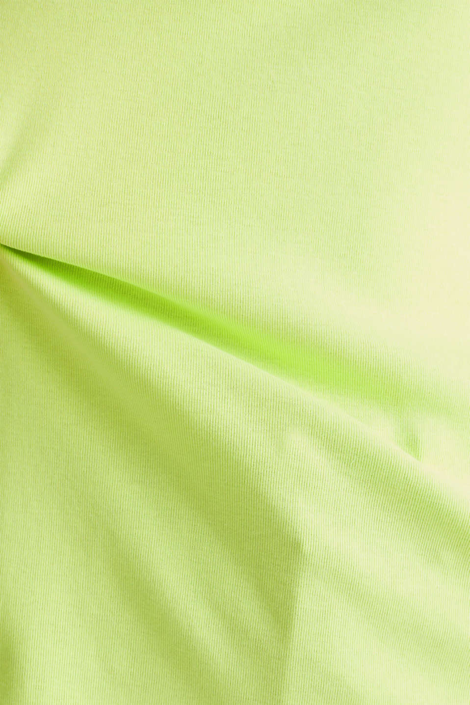 NEON top with a band collar, 100% cotton, LIME YELLOW 4, detail image number 4