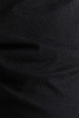Cropped chinos with stretch and organic cotton, BLACK, detail