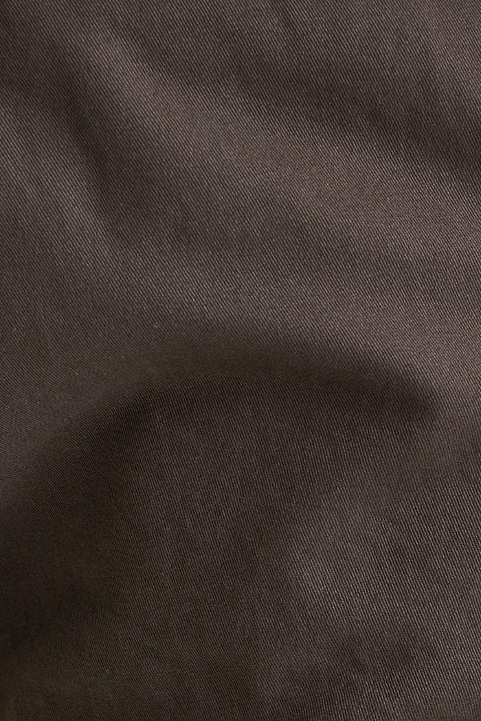 Verkürzte Chino mit Stretch und Organic Cotton, ANTHRACITE, detail image number 3