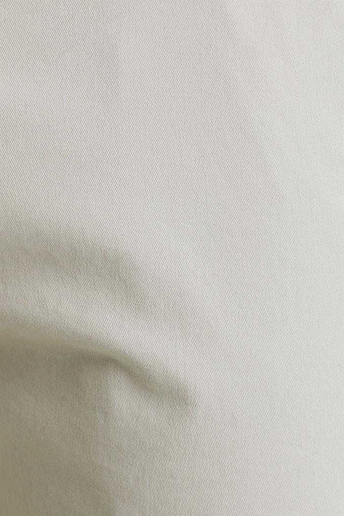 Chino raccourci à teneur en stretch et en coton biologique, LIGHT GREY, detail image number 4