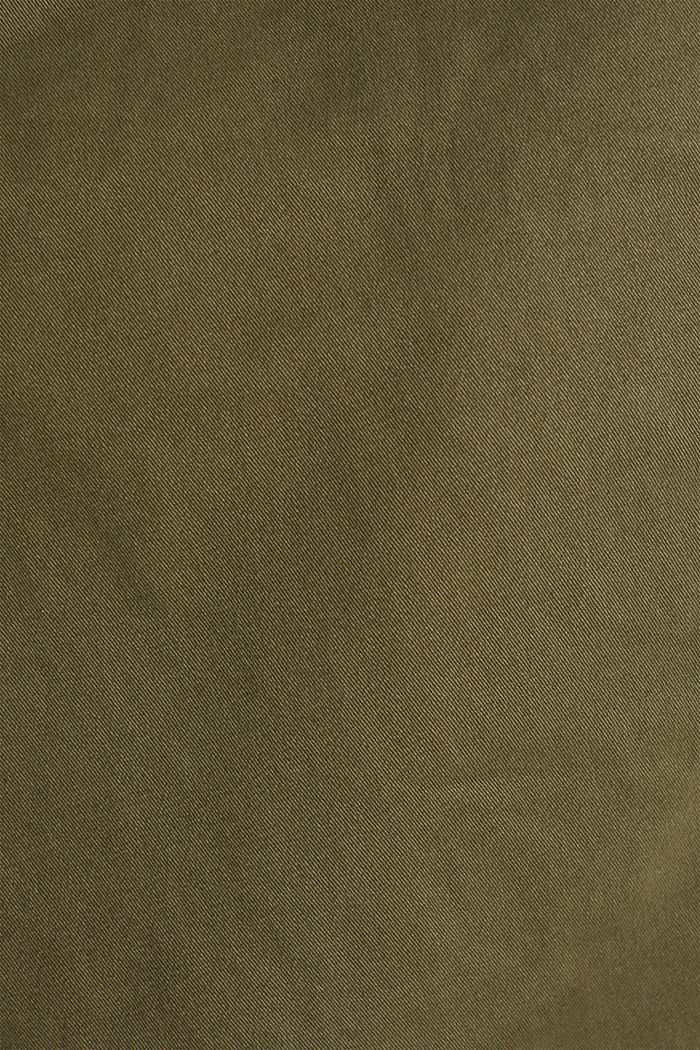 Cropped chinos with stretch and organic cotton, OLIVE, detail image number 3