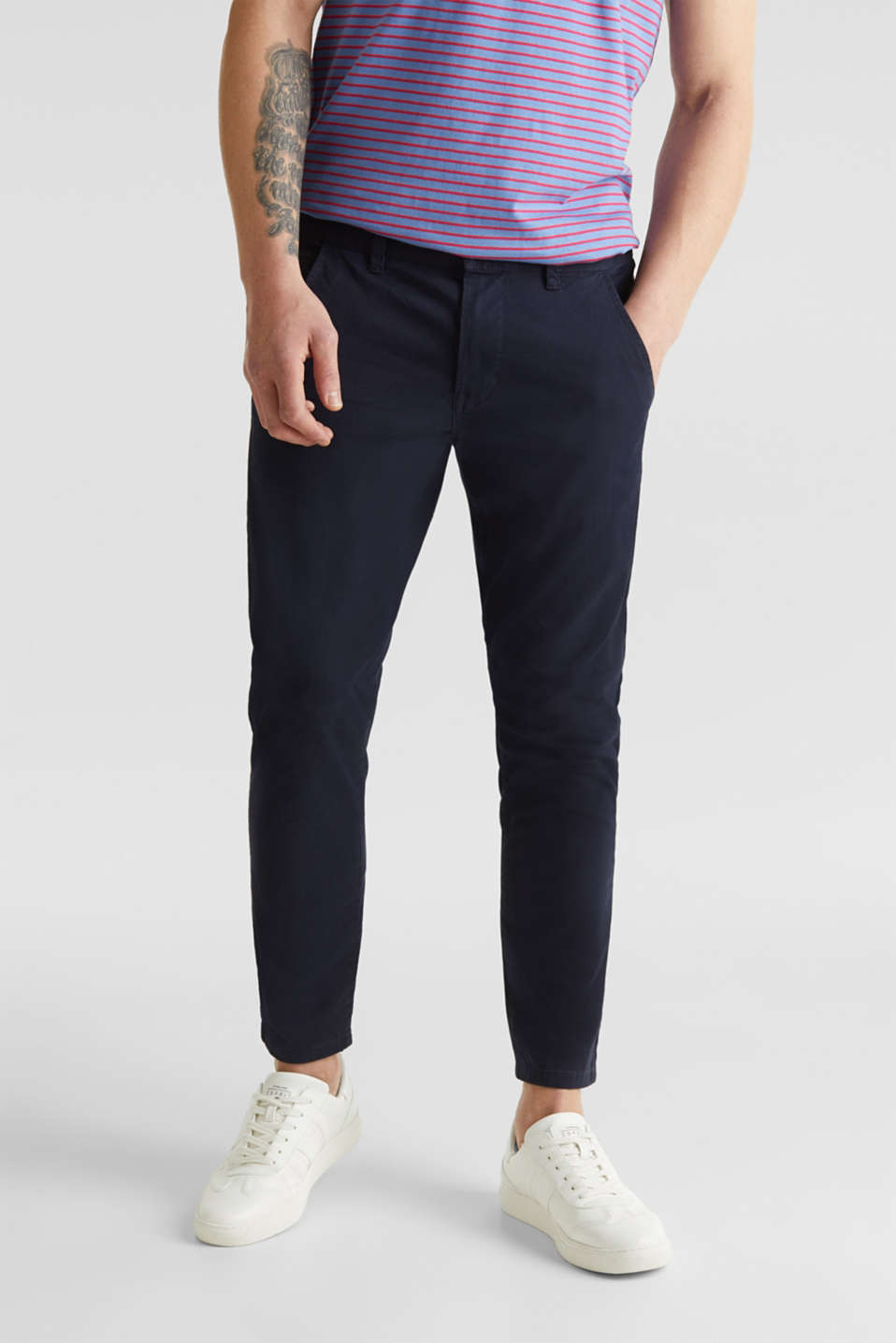 edc - Cropped chinos with stretch and organic cotton