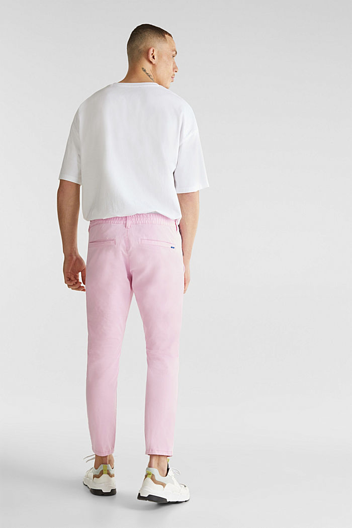 Verkürzte Chino mit Stretch und Organic Cotton, LIGHT PINK, detail image number 3