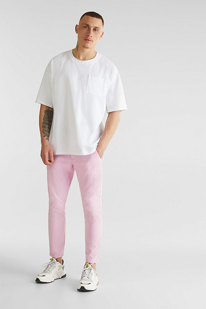 Verkürzte Chino mit Stretch und Organic Cotton, LIGHT PINK, detail image number 1