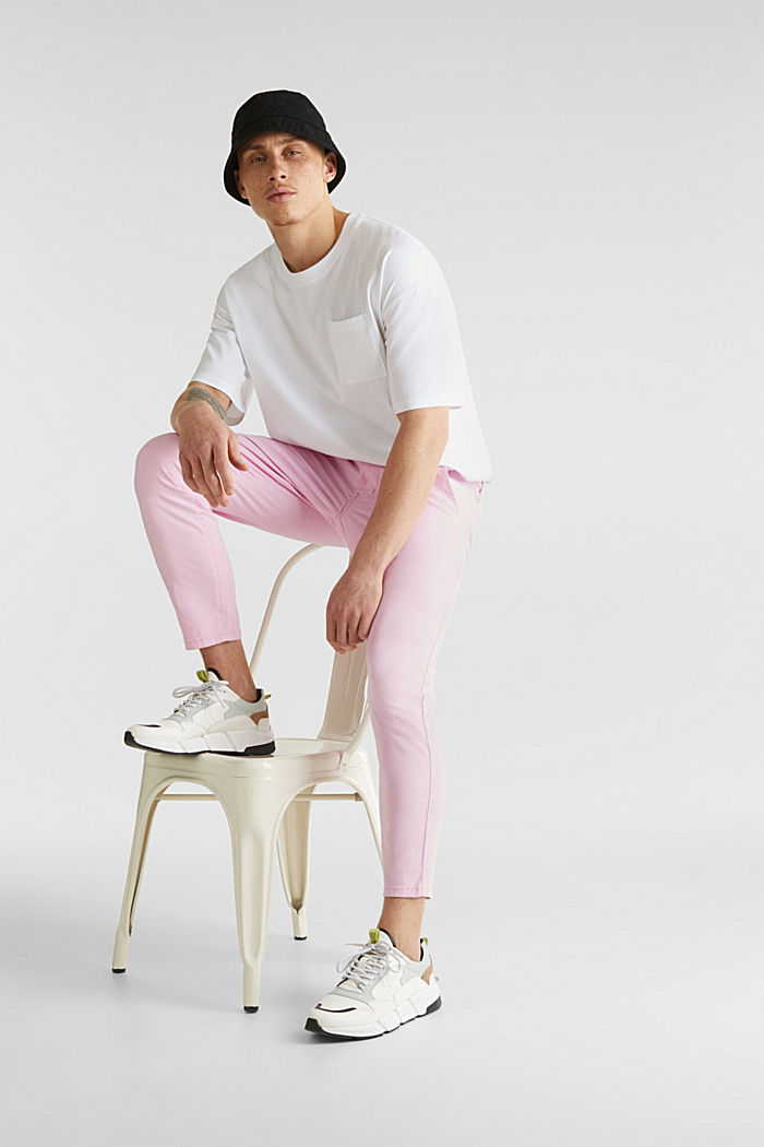 Verkürzte Chino mit Stretch und Organic Cotton, LIGHT PINK, detail image number 6