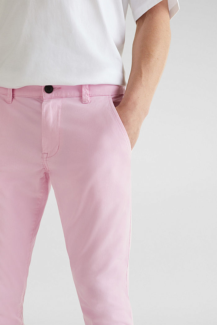 Verkürzte Chino mit Stretch und Organic Cotton, LIGHT PINK, detail image number 2
