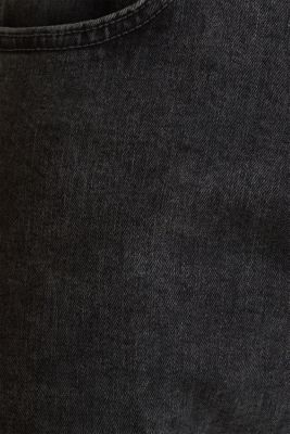Super stretchy jeans with washed-out effect, BLACK DARK WASH, detail