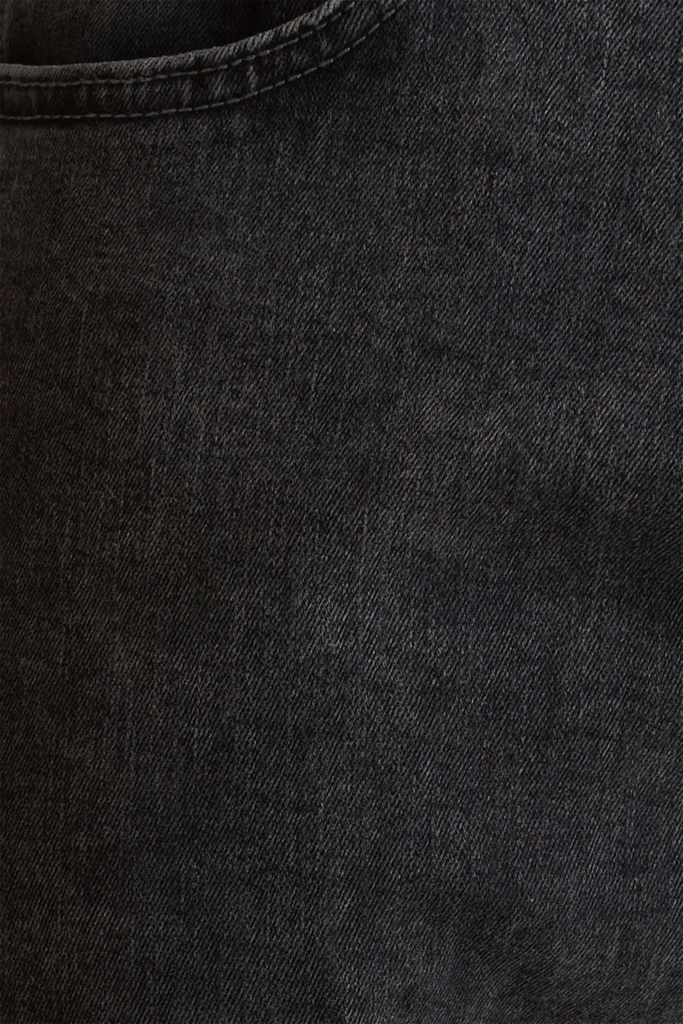 Super stretchy jeans with washed-out effect, BLACK DARK WASH, detail image number 1