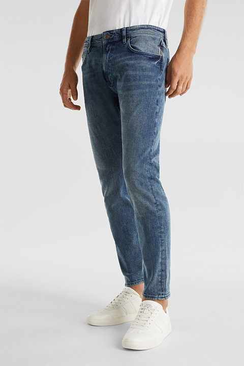 Super stretchy jeans with washed-out effect
