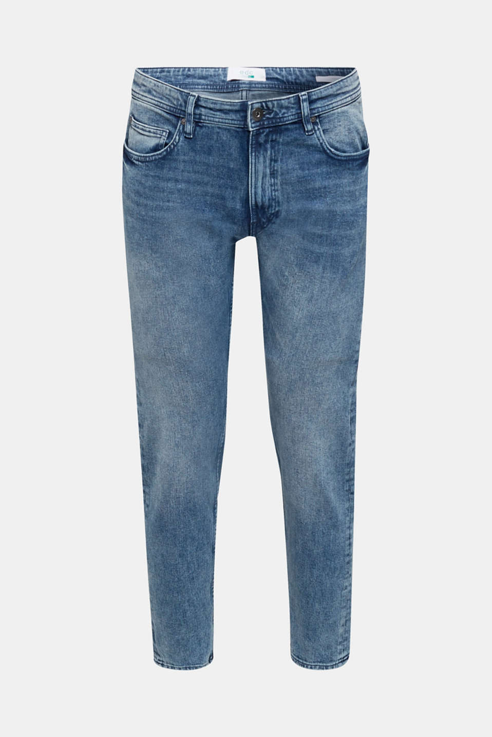 Super stretchy jeans with washed-out effect, BLUE MEDIUM WASH, detail image number 6