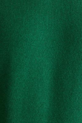 Jumper with contrasting details, 100% cotton, GREEN 5, detail