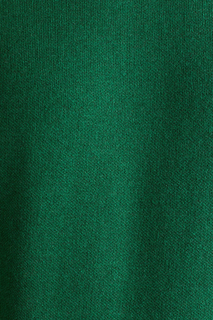 Trui met contrasterende details, 100% katoen, GREEN 5, detail image number 4