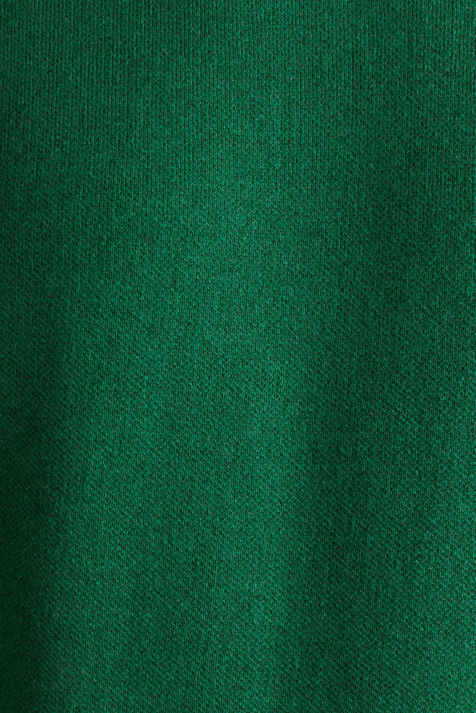 Jumper with contrasting details, 100% cotton, GREEN 5, detail image number 4
