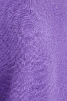 Jumper with contrasting details, 100% cotton, PURPLE 2, detail
