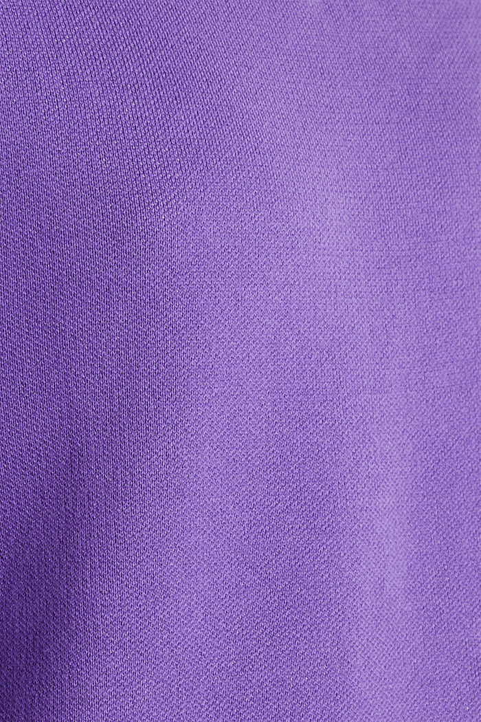 Jumper with contrasting details, 100% cotton, PURPLE, detail image number 3