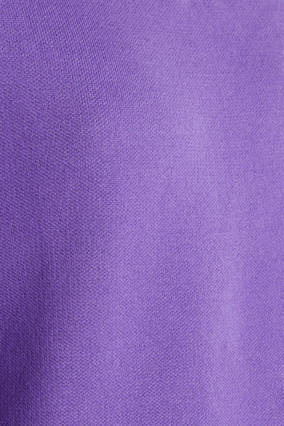 Jumper with contrasting details, 100% cotton, PURPLE 2, detail image number 3