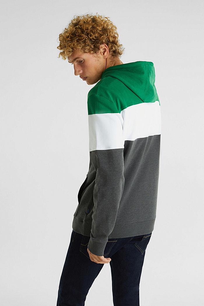 Mikina s kapucí a barevnými bloky, GREEN 2, detail image number 3