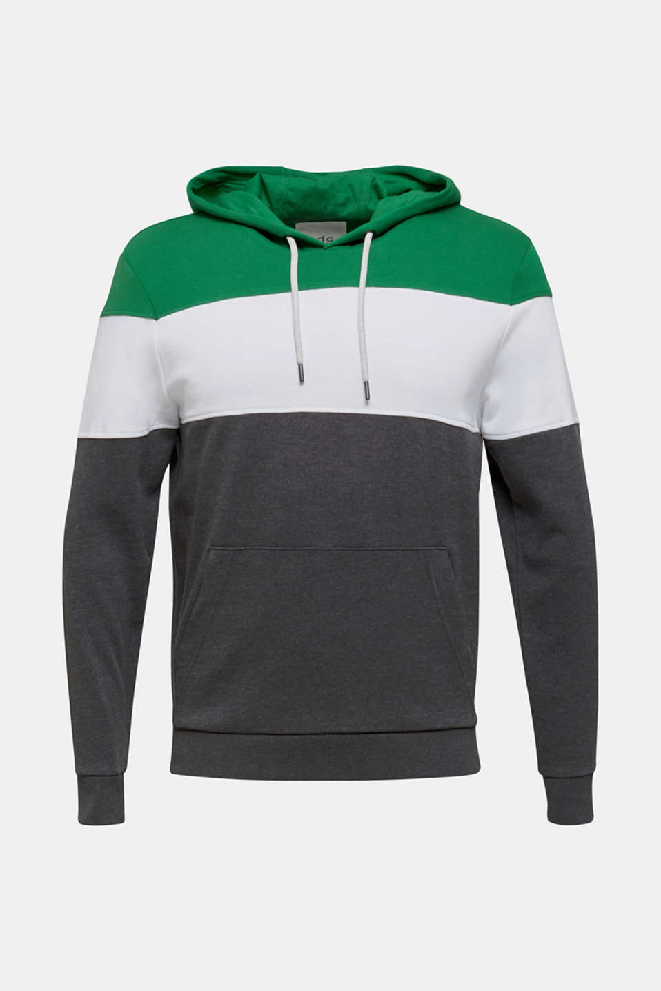 Hoodie with colour blocking, GREEN 2, detail image number 5